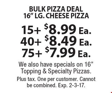 Bulk pizza deal 16