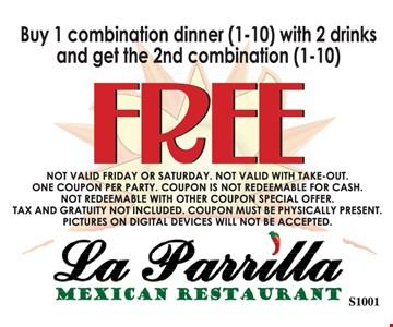 Free combination (1-10) dinner