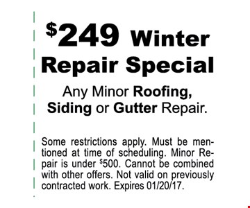 $249 winter repair special