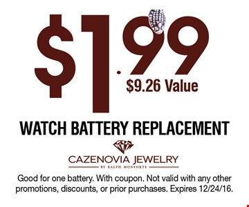 $1.99 Watch Battery Replacement