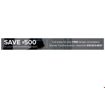 Save $500 on your next remodeling project