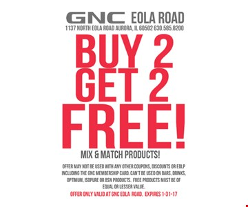 2 free products with purchase.