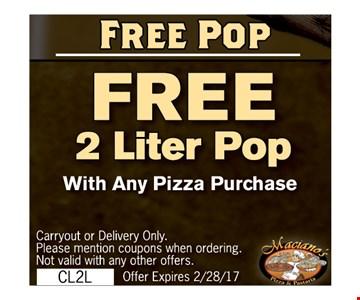 FREE 2 Liter Pop