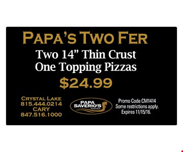 Paps's two fer - two 14