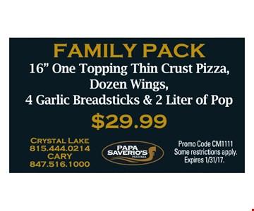 Family Pack $29.99