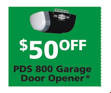$50 off garage door opener.