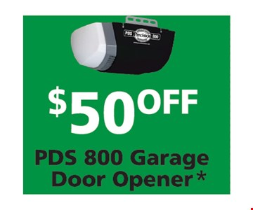 $50 Off PDS 800 Garage Door Opener