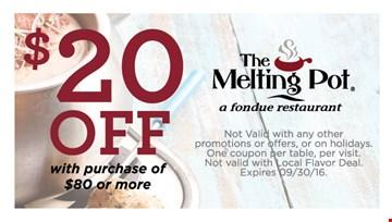 The melting pot menu coupons