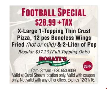 Football Special $28.99