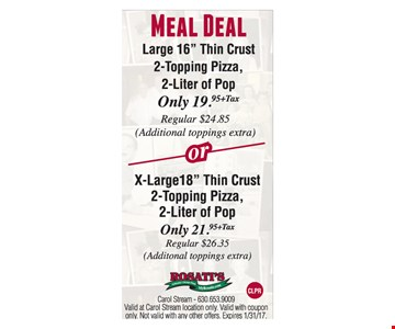 Meal deal $19.95