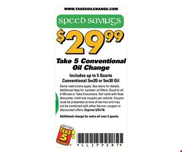 Oil change for $29.99.