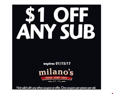 $1 off any sub