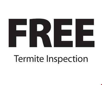FREE Termite Inspection. 11-18-16.