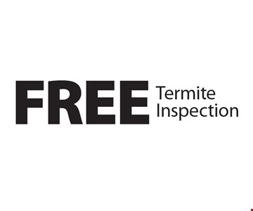 FREE Termite Inspection. 1-27-17.