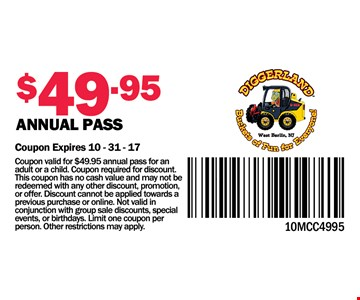 Annual Pass for $49.95
