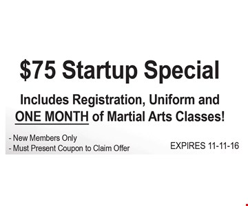 $75 startup special