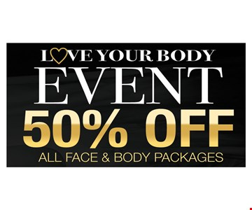 Love your body event 50% off