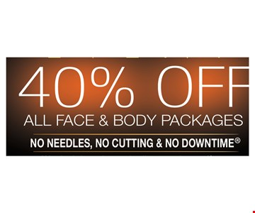 40% all face and body packages