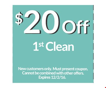 $20 off 1st clean