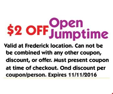 $2 Off Open Jumptime