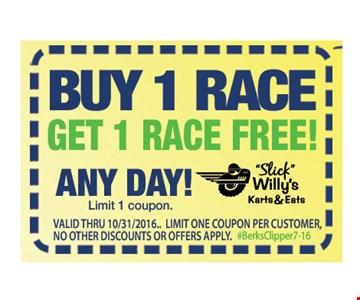 Buy 1 Race Get 1 Race Free