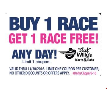 Buy 1 race get 1 free