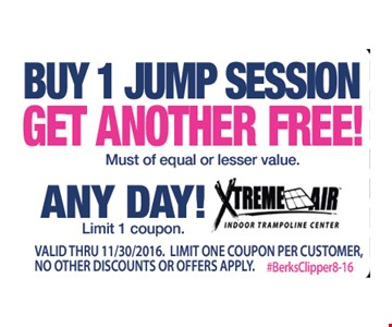 Buy 1 jump session get 1 free