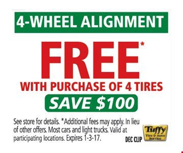 Free 4-wheel alignment