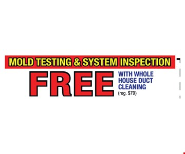 Mold testing and system inspection Free