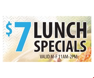 $7 Lunch Special