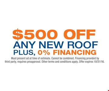 $500 off any new roof.