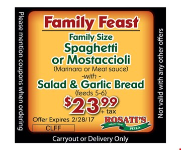 family Feast for $23.99