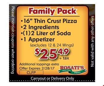 Family pack for $25.49