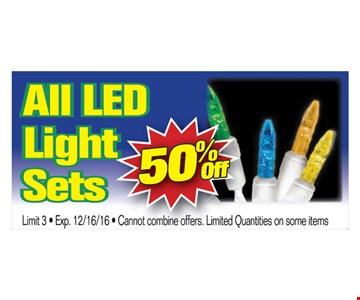 All LED Light Sets 50% Off