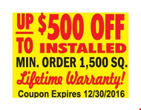 Up to $500 off.