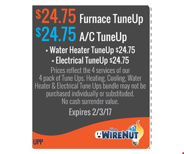 $24.75 Furnace or A/C tune-up