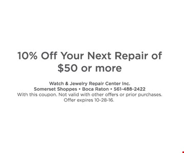 10% off your next repair.
