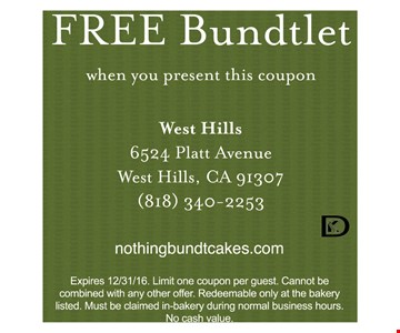 Free Bundlet when you present this coupon