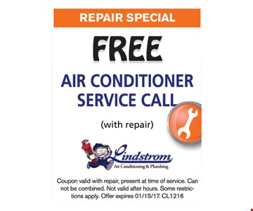 Free air conditioner service call