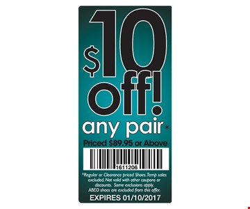 $10 off any pair.