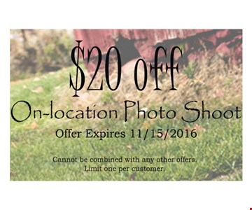 $20 off on-location photo shoot