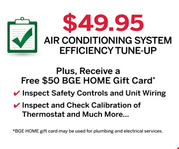 $49.95 air conditioning system tune up