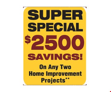 Super Special $2500 Savings!