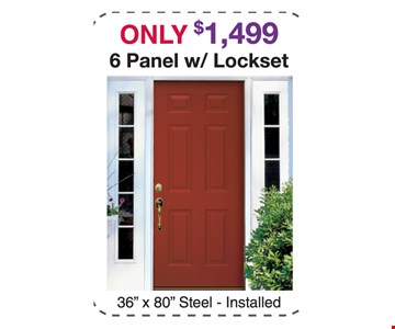 Only $1499 6 Panel w/Lockset