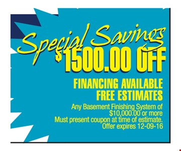 $1500.00 off financing available free estimates