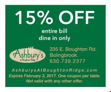 15% off entire bill