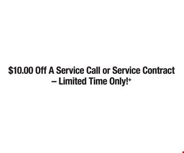 $10 Off A Service Call