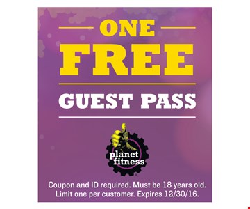 One Free Guest Pass