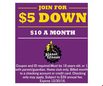 Join For $5 Down