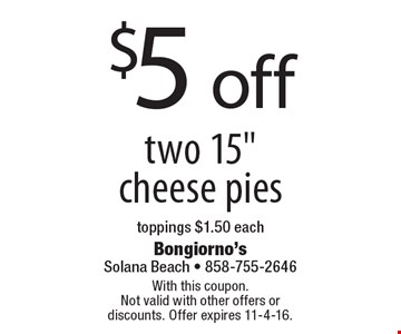 $5 off two 15